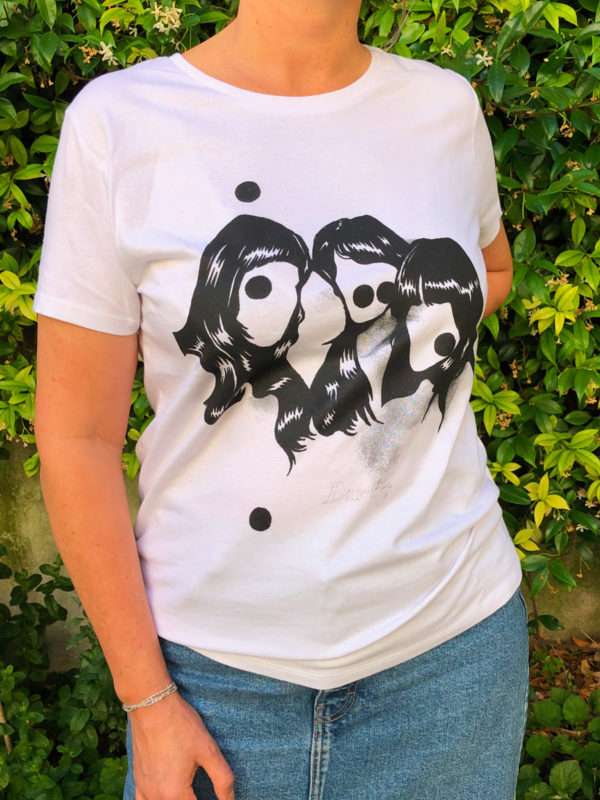 T-Shirt Dirty Femme blanc